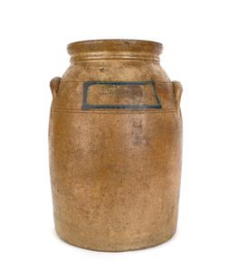 New Jersey two-gallon stoneware crock, 19th c., im