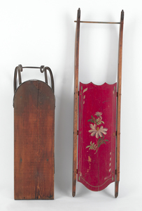 Painted sled, 46