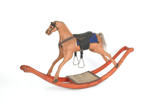 Painted hobby horse, 19th c., 30 1/2
