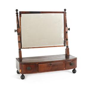 Regency mahogany shaving mirror, early 19th c., 23