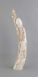 Chinese carved ivory elephant tusk