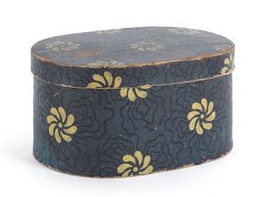 Pennsylvania wallpaper box, ca. 1840, with yellowi