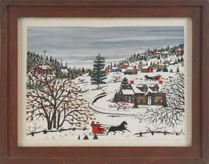 Hattie Klapp Brunner (American, 1889-1982), gouach