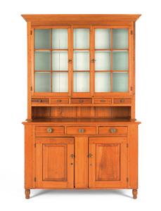 Pennsylvania poplar Dutch cupboard, 19th c., 87