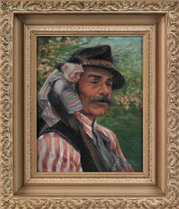 Edith Belfiore (American, mid 20th c.), oil on boa