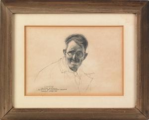 Barclay Rubincam (American, 1920-1978), pencil por