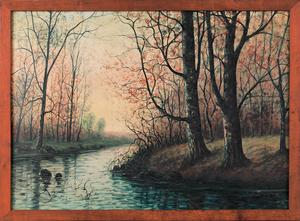 Raphael Senseman (American, 1870-1965), oil on can