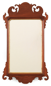 Chippendale mahogany looking glass, ca. 1800, 30 1