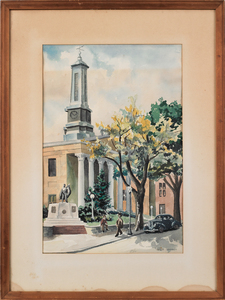 Philip Jamison (American, b. 1925), watercolor ofh