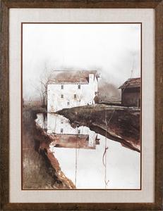 Andrew Wyeth chromolithograph, 26 1/2