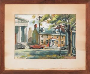 Philip Jamison (American, b. 1925), watercolor dep