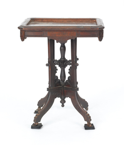 Victorian marble top table, 29 1/2