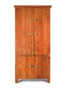 Pine kitchen cupboard, 19th c., 97