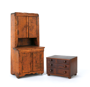 Miniature mahogany chest of drawers, 19th c., 5 1/