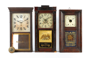 Three Empire mantle clocks, 30 1/4