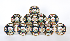 Set of twelve bird plates by Boothe, 9