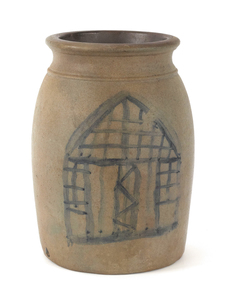 Pennsylvania stoneware crock, 19th c., one side wi