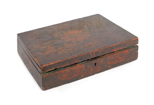 Pennsylvania painted poplar dresser box, ca. 1835,