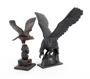 Two carved eagles, ca. 1900, 17