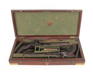 Cased pair of J.A. Wilkinson London flintlock duel