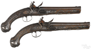 Exceptional pair of French flintlock pistols