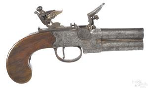 Hodgson & Co. box lock flintlock pistol