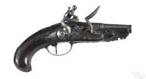 Small European flintlock pistol