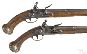 Pair of Belgian flintlock pistols