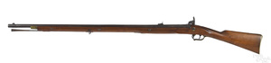 Scarce P. S. Justice pinned percussion musket