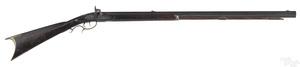 Two half stock percussion rifles