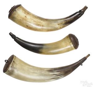 Three Pennsylvania powder horns