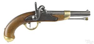 French model 1822 conversion percussion pistol