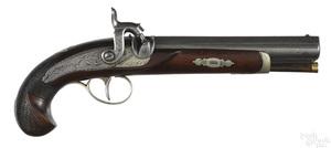 Seaver Deringer type percussion pistol
