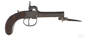 J. W. Bury, London percussion box lock pistol