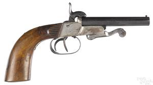 German double barrel side by side pinfire pistol