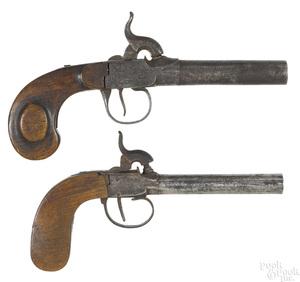 Two Belgian percussion pistols