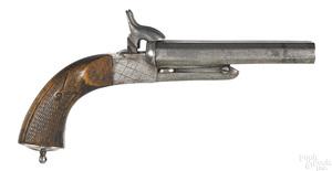 Belgian double barrel pinfire pistol