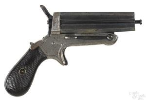 European four shot pepperbox pistol