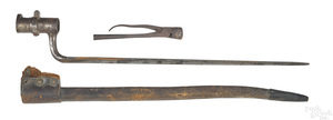US Civil War bayonet with scabbard and belt