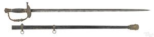 Civil War staff & field officer's sword & scabbard