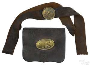 H. W. Oliver, PA. Civil War cartridge box