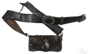 European baldric & leather hide covered cartridge