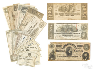 North and South Carolina, Confederate currency