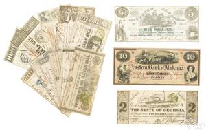 Alabama and Georgia Confederate paper currency