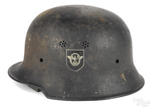 German M34 WWII era steel police helmet