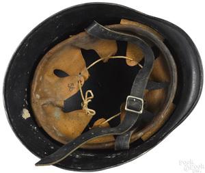 German WWII M42 beaded steel police helmet