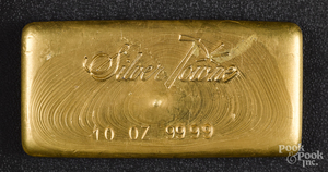 Silver Towne 10 ozt. gold bar.