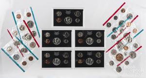 Twelve US mint sets, 1968-1973.