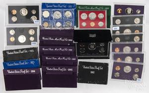Twenty-three US Mint Proof sets