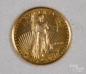 US Standing Liberty 1999 gold coin.